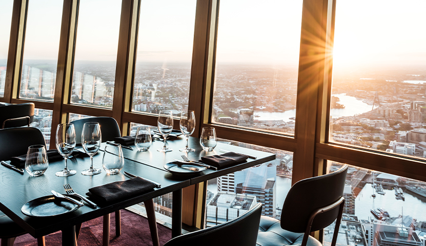 Infinty at Sydney Tower Render showing the restaurant